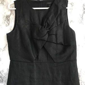 Basic Black J . Crew Linen Dress